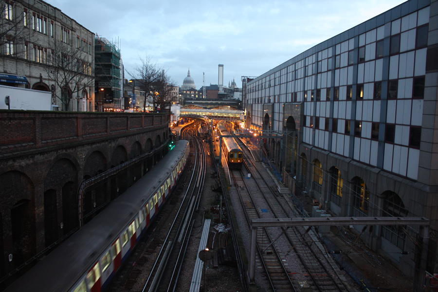 Farringdon by lights