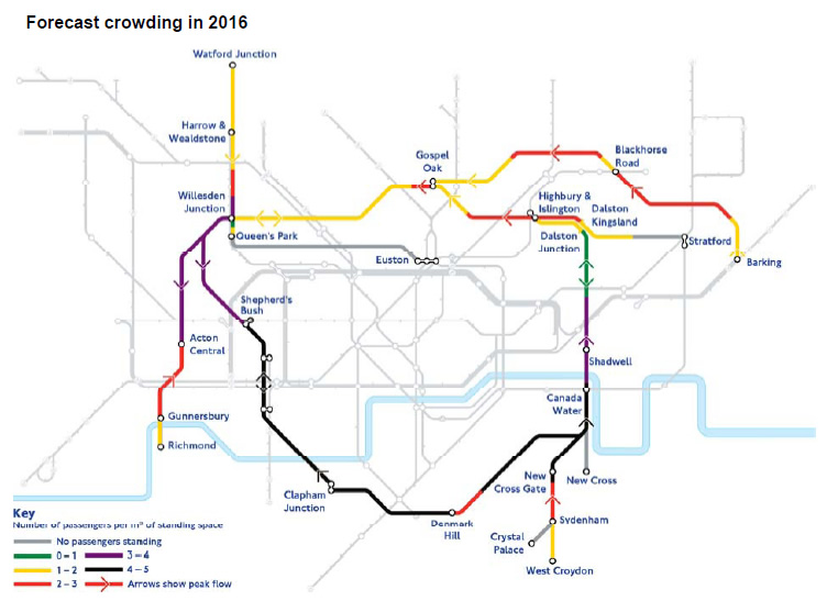 Forecast Overground Passenger Levels in 2016