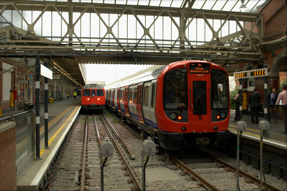 At Hammersmith. The contrast with the C Stock is clear