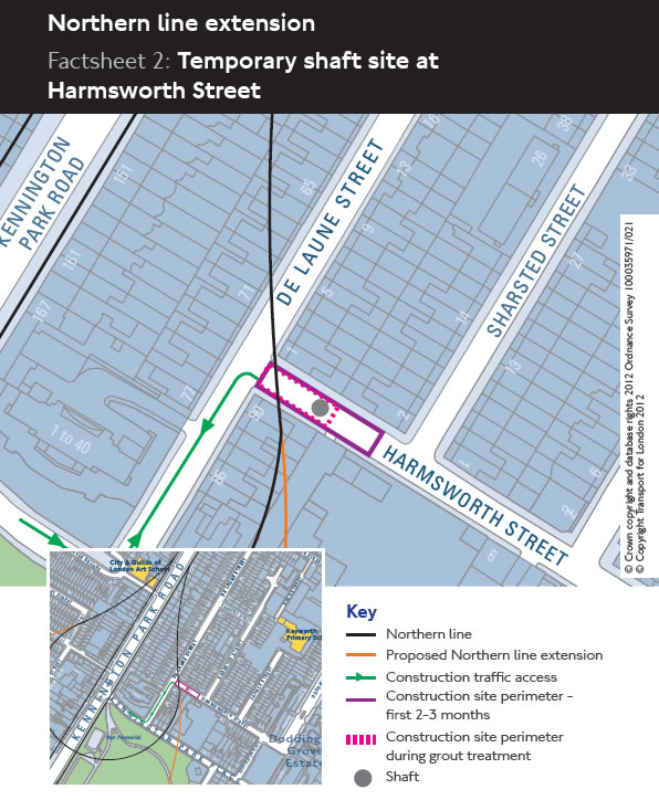 Temporary Shaft at Harmsworth Street