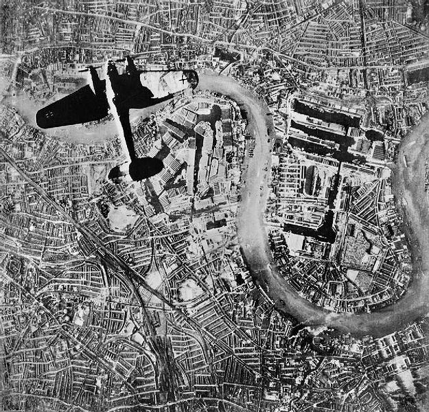 A Heinkel 111 Over Wapping