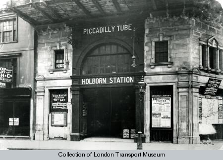 Holborn was originally completed in red granite