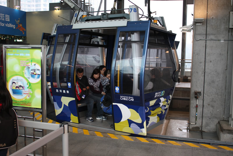 The Hong Kong Ngong Ping Cable Car