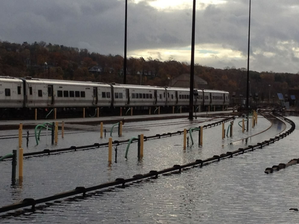 Flooding on the Hudson Line, via the MTA