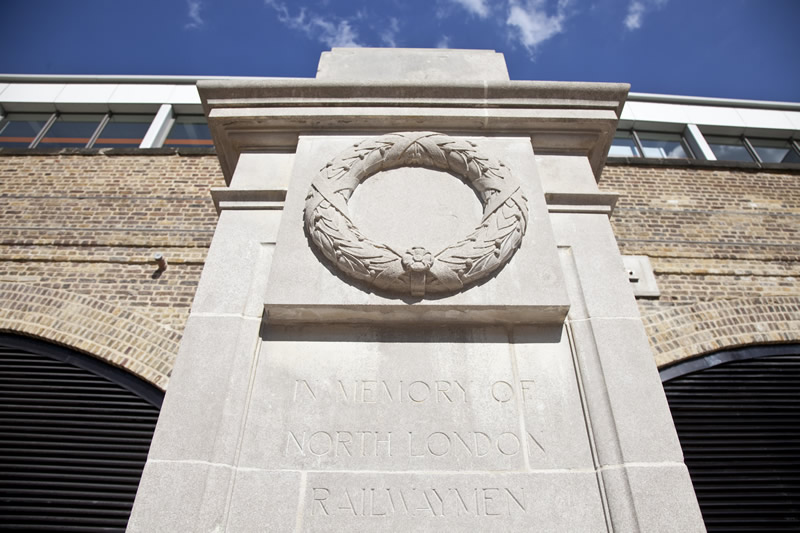 The relocated memorial at Hoxton