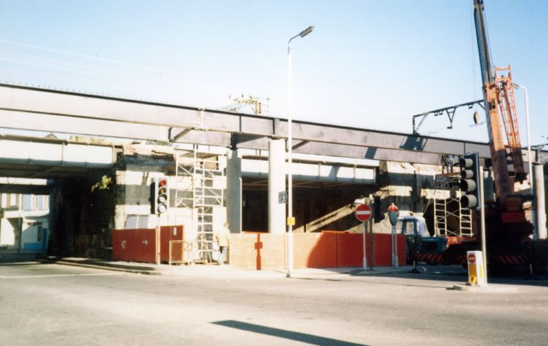 The DLR under construction