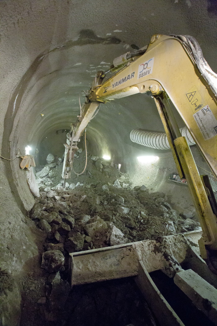 Working on the Finsbury Circus tunnels