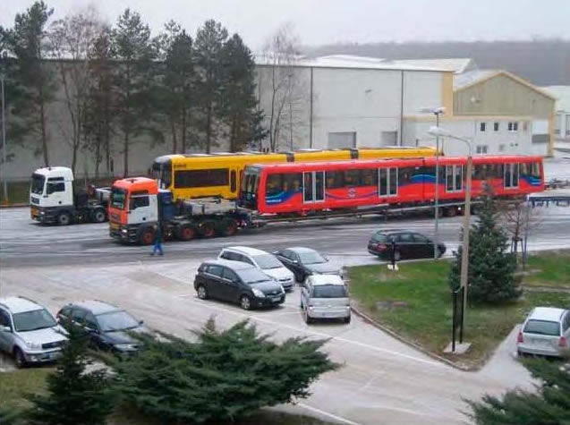 DLR Trains en route from Germany in 2009