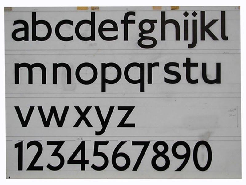 New Johnston lowercase, Courtesy the Centre for Research and Development