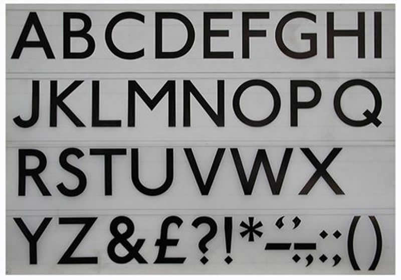 The final uppercase, Courtesy the Centre for Research and Development