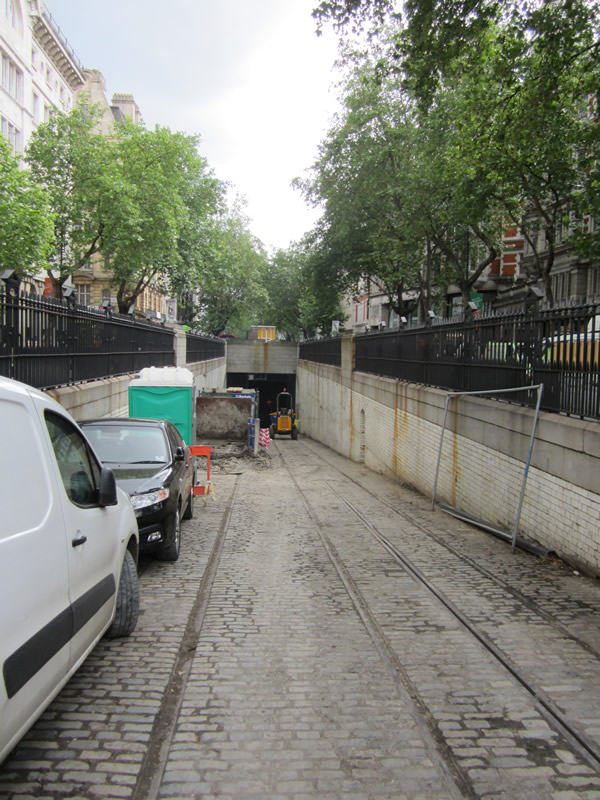 The view down into the Tunnel on Southampton Row