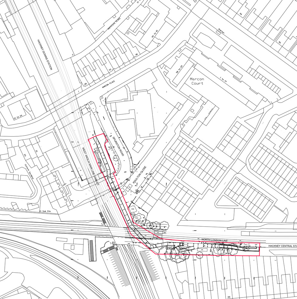 The planned Hackney Downs - Central link