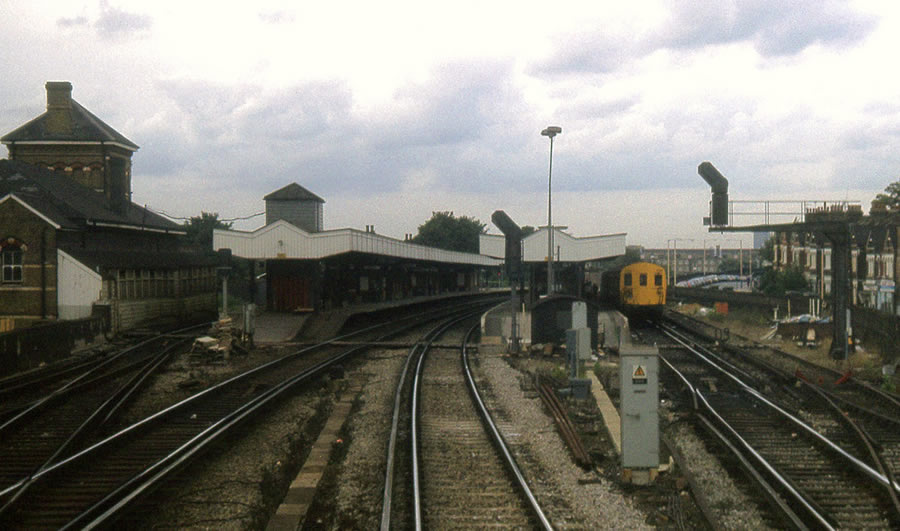 The post-1925 layout, taken from a similar point in 1983 with the Down loop on the right