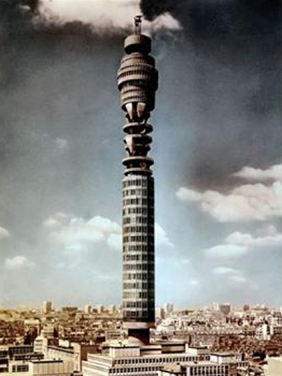 There it is! The Post Office Tower in the 1960s