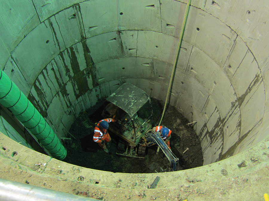 The view down the shaft
