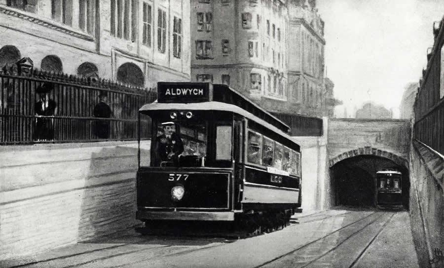 The tunnel entrance, 1906 - 1920