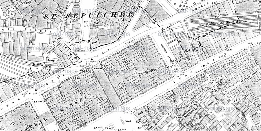 The area in 1896, courtesy of www.oldmaps.co.uk