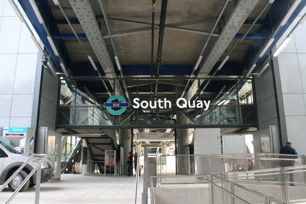The new South Quay station in 2009