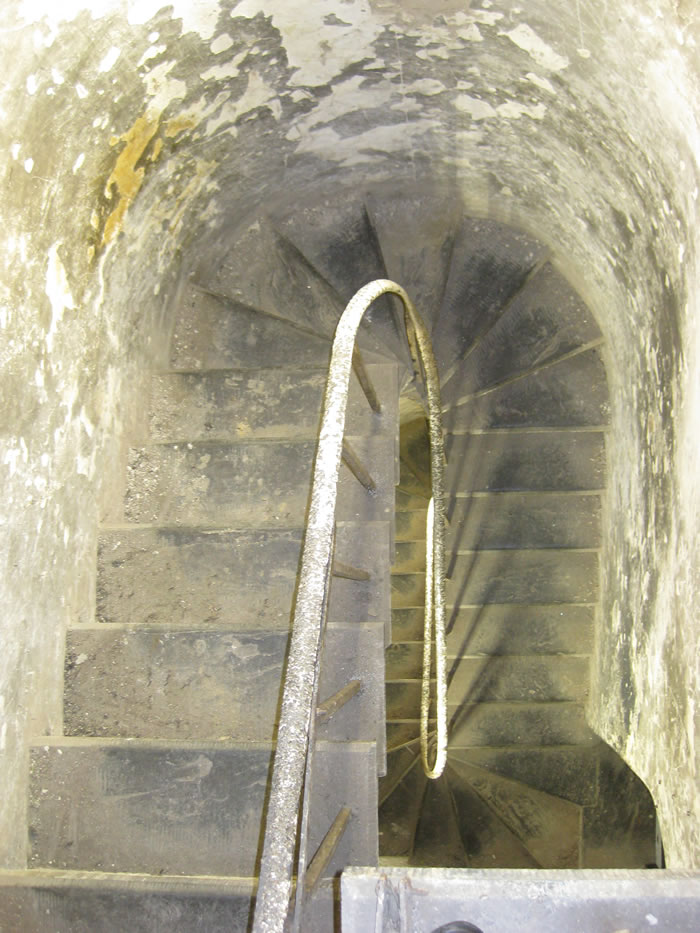 The stairs to the tower