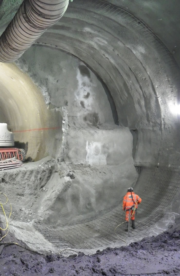 Tunnelling at Stepney Green