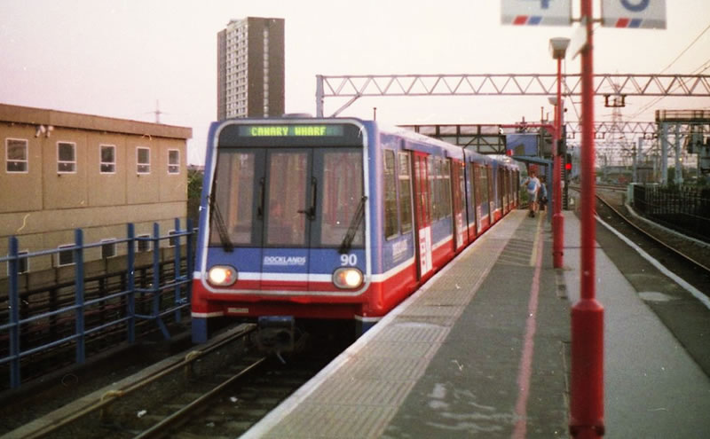 The DLR at Stratford in 1993