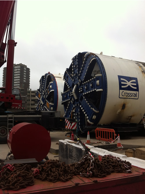 Both TBMs now have their cutter heads in place