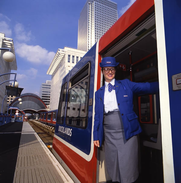 A DLR Train Captain in 1987