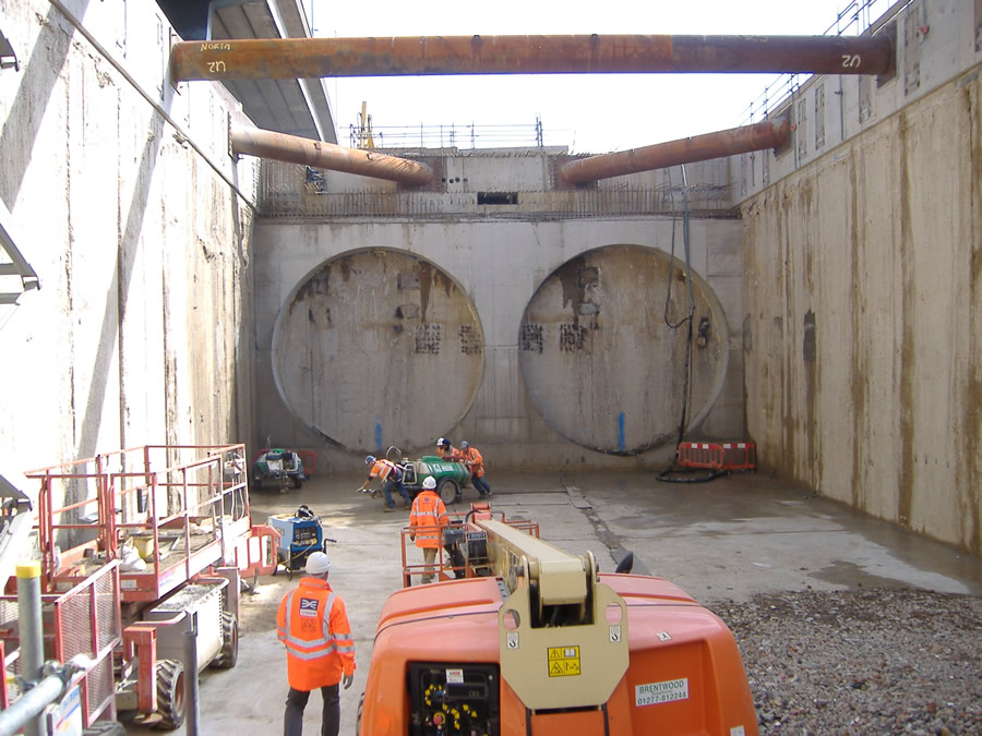Work continues at the Tunnel Eyes