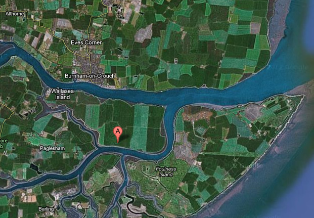 Wallasea Island, via Google Maps