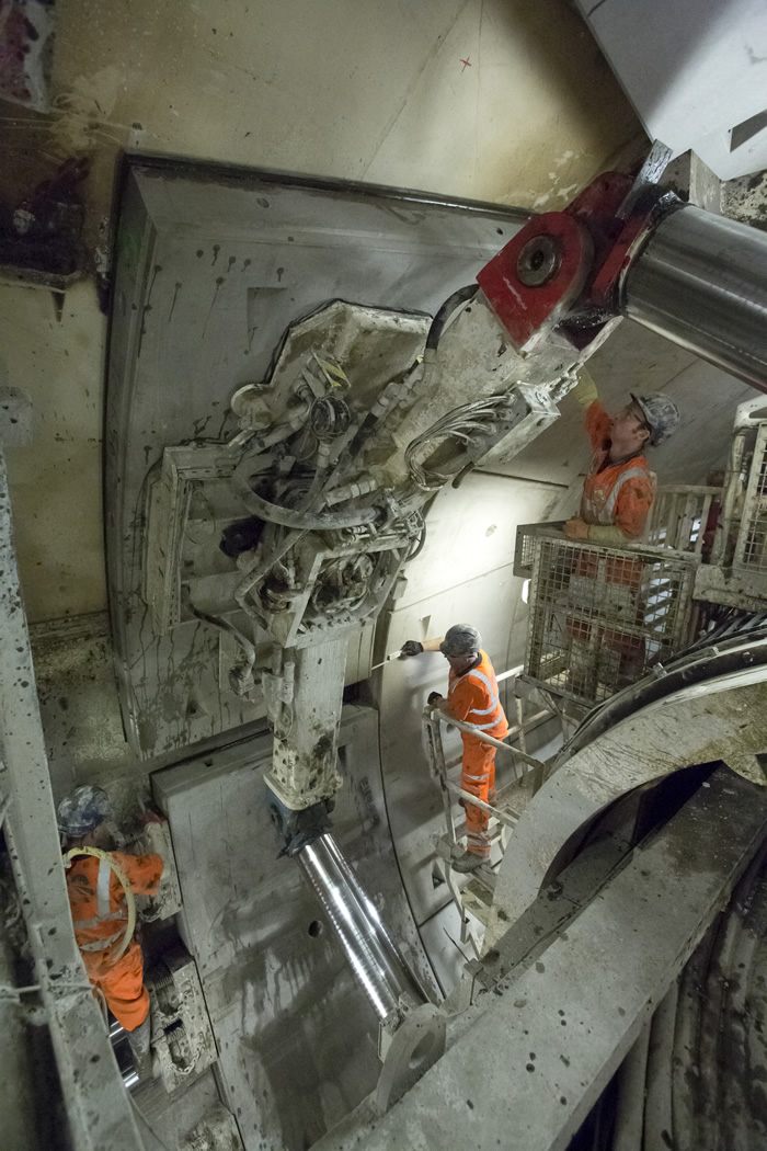 TBM working in the western tunnels
